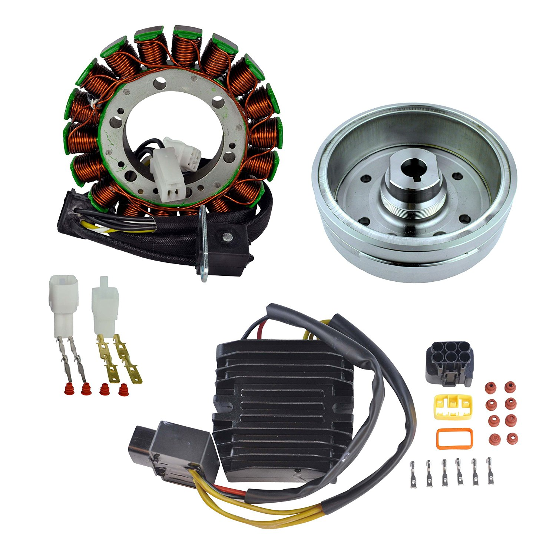 Kit Stator + Improved Magneto Flywheel + Mosfet Regulator Rectifier For Suzuki LTA 400 Eiger/LTF 400 Eiger 2002 2003 2004 2005 2006 2007
