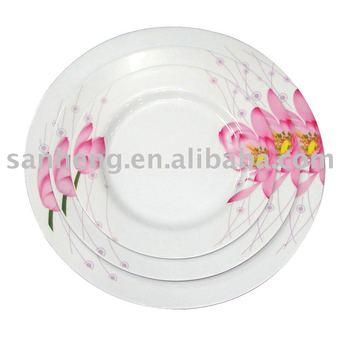 Melamine Round Dinner Plate Set