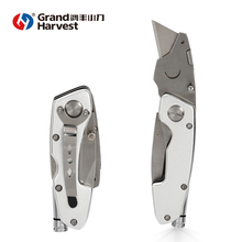 SK5 and 420 stainless steel Utility multi function torch knife heavy duty box cutter
