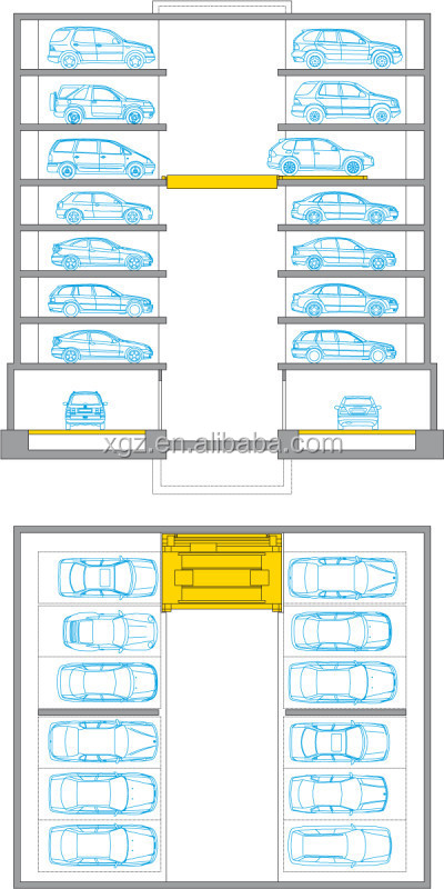 cheap advanced automatic vertical car parking design