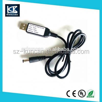 SZKUNCAN 5V dc step up 12V power supply cable dc dc step up inverter for USB power bank