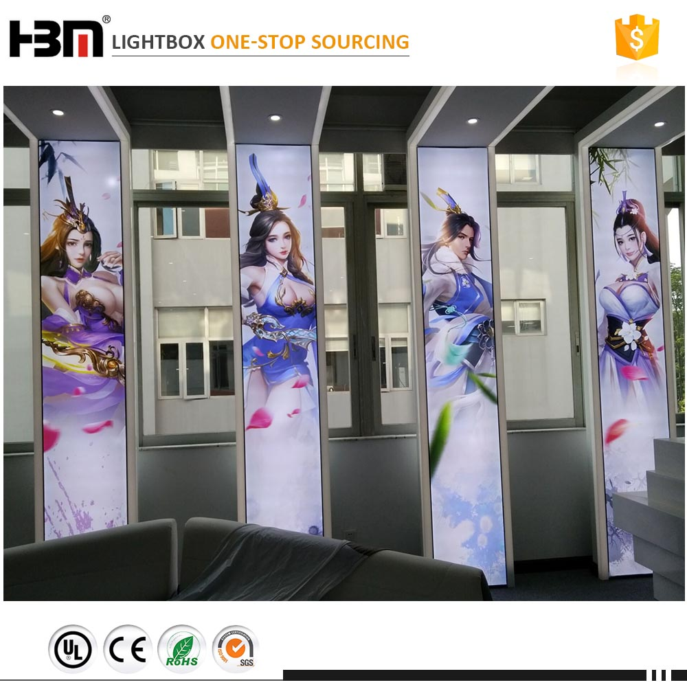 DHL shipment signage display store textile photo aluminum accessories silicone edge graphic light boxes