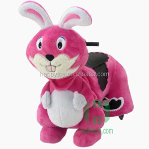 Rabbit ride on happy car coin operated electric animal ride