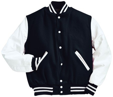 Baseball Jacket Black And White - JacketIn