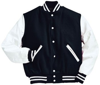 Black And White Baseball Jacket - Buy Black And White Baseball