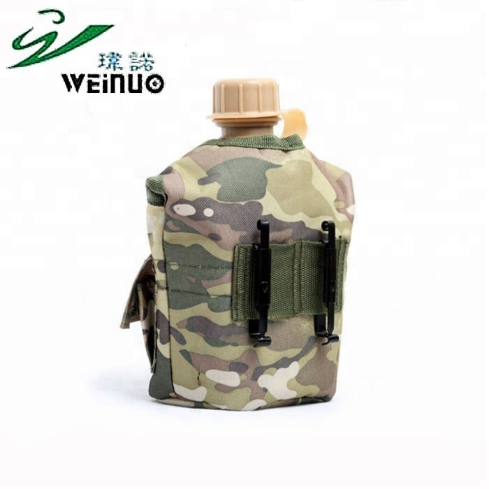 Campcookingsupplies Camping & Hiking 1l Military Canteen Field Military Kettle Camping Outdoor Army Water Bottle With Nylon Cover Survival Kettle Tableware Lunch Box