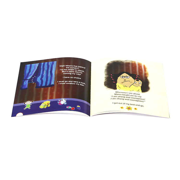 Cheap printing children softcover story reading book