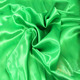 Newly Polyester Green Color Aqua Satin Fabric