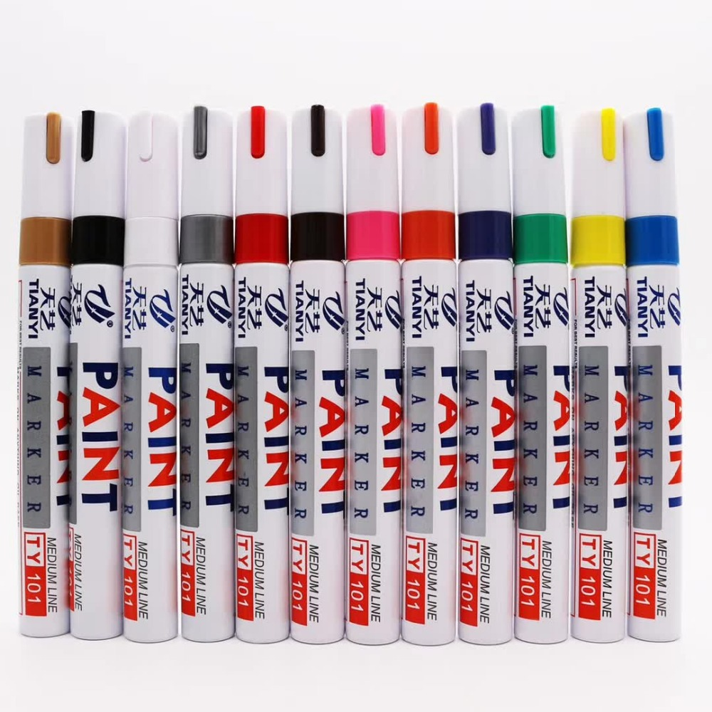 Paint Marker Opaque Paint Marker DIY Pen Non-toxic Colored Used for all surfaces wood,metal,ceramic, plastic