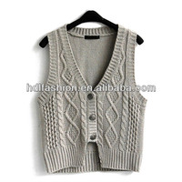 New fashion ladies cable knit sweater vest