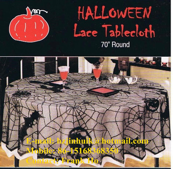 Black Spider Web Lace Halloween Tablecloths 70 Round Black Lace Table Cloths