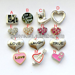 fashion cheap price hot sale enamel heart floating charms