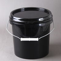 1 gallon/4 liter American style plastic containers honey pails with lid