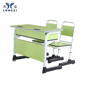 Colorful design primary, middle ,high school furniture classroom chairs double desk and chair