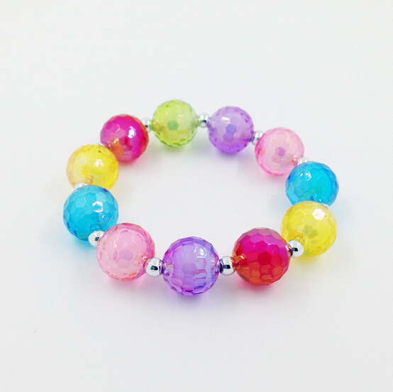 2015 New Fashion Acrylic styling tool Beads bracelets for children the jewelry make kids baby girls cute lovely