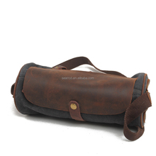 Guangzhou manufacturing small casual full grain leather cylinder bag