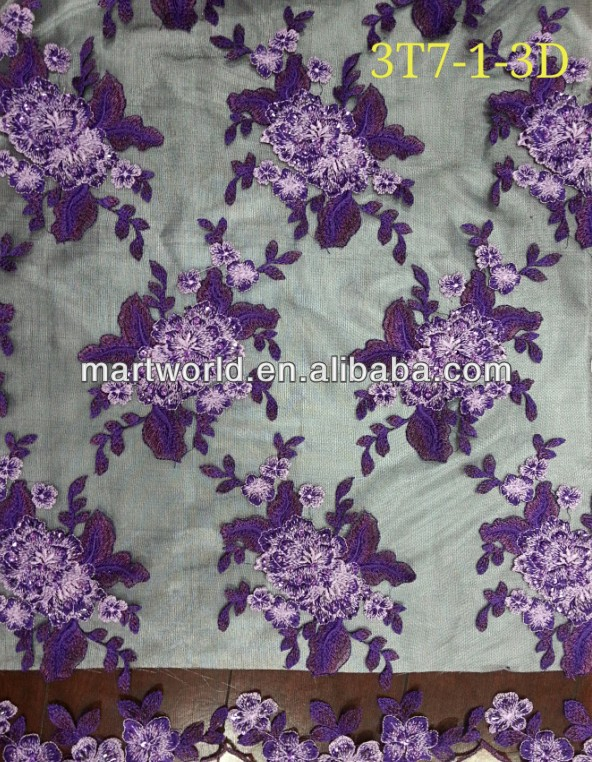 Purple Cottton Embroidery Designs Salwar Kameez Fabric(3t7-1-3d ...