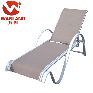 Outdoor electric teak leaf sun lounger