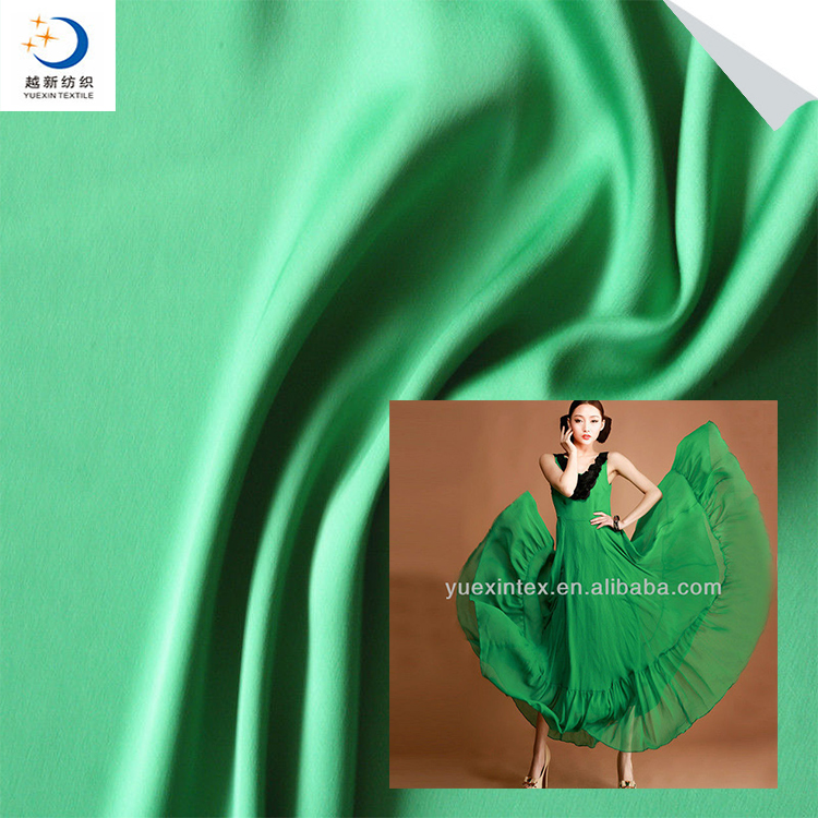 polyester imitated silk stretch crepe satin fabric