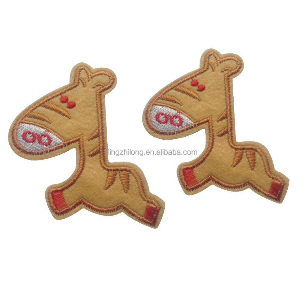 Custom horse shape embroidery badge,embroidery patch
