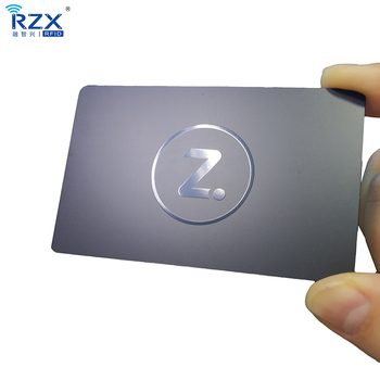 Cheap price Stainless steel Electroplating black Matte Metal business card with UV spot