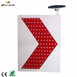Solar Led Security Warning Signal Light,Solar Traffic LED Arrow board