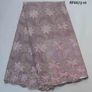 mikemaycall wholesale japanese cotton swiss lace voile fabric with stones for aso-ebi