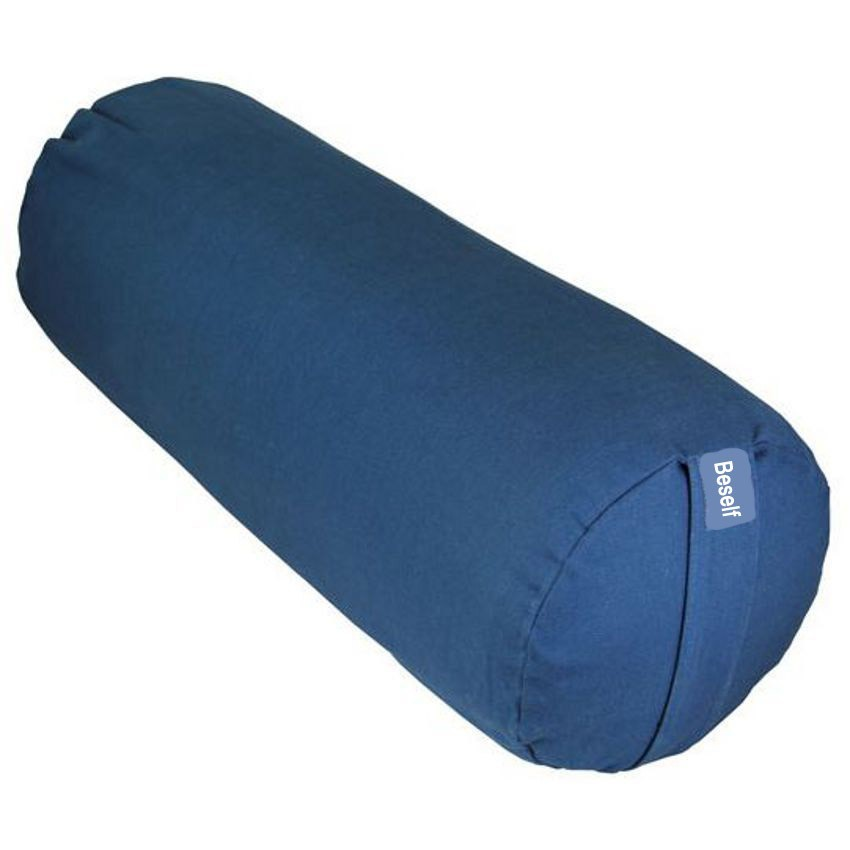 wholesale custom PU batting 65*21cylindrical yoga bolster with organic cover