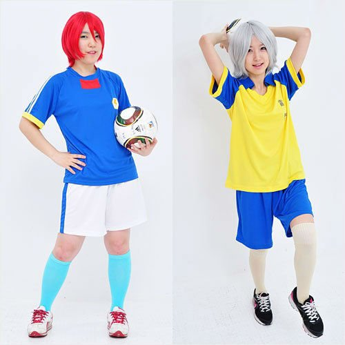 Inazuma Eleven Cosplay Japan Soccer Team Uniform