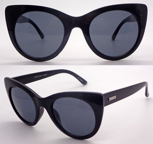 China sunglasses offers black custom silver metal logo cool sunglasses online oversized cat eye womens sunnies