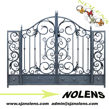 High Performance Residential Main Garden Iron Gate Designs/Cheapest Price  Steel Main Gate Design Part 96