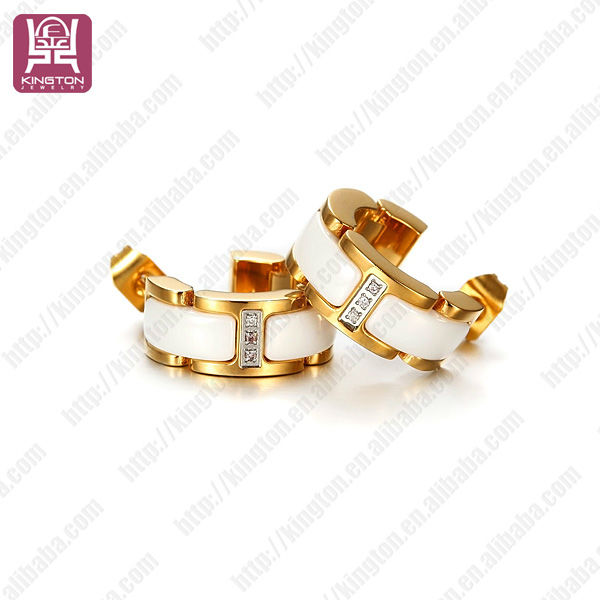 2015 fashion trendy white ceramic replica earrings