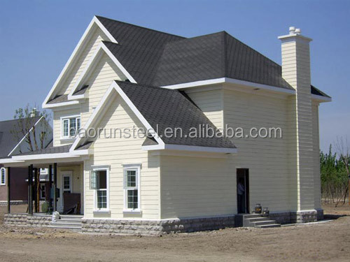 Luxury prefab steel structure townhouse /3d villa design