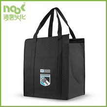 Eco-friendly insulated reusable hot/cold picnic non woven bag with zipper