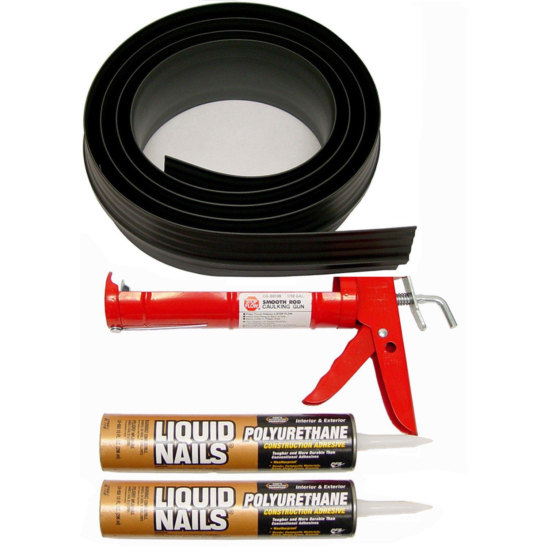 Auto Care Products Inc 53016 16-Feet Tsunami Seal Garage Door Threshold Seal Kit, Black