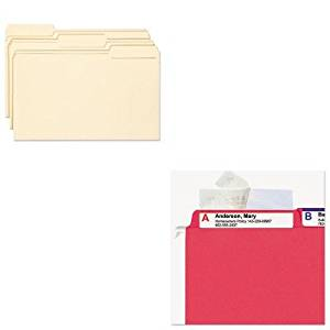 KITSMD15338SMD67600 - Value Kit - Smead Antimicrobial File Folders (SMD15338) and Smead Seal amp;amp; View File Folder Label Protector (SMD67600)