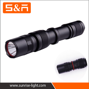 Powerful 500 Lumen Micro USB 18650 Battery Aluminum Rechargeable Flashlight LED