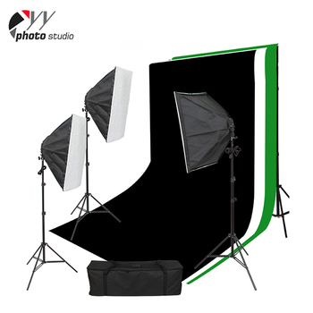 Photography studio softbox background stand light kit for beginners