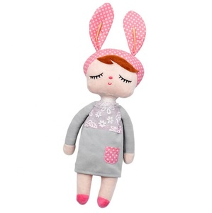 new coming white sweet girl doll plush toy sleeping mate