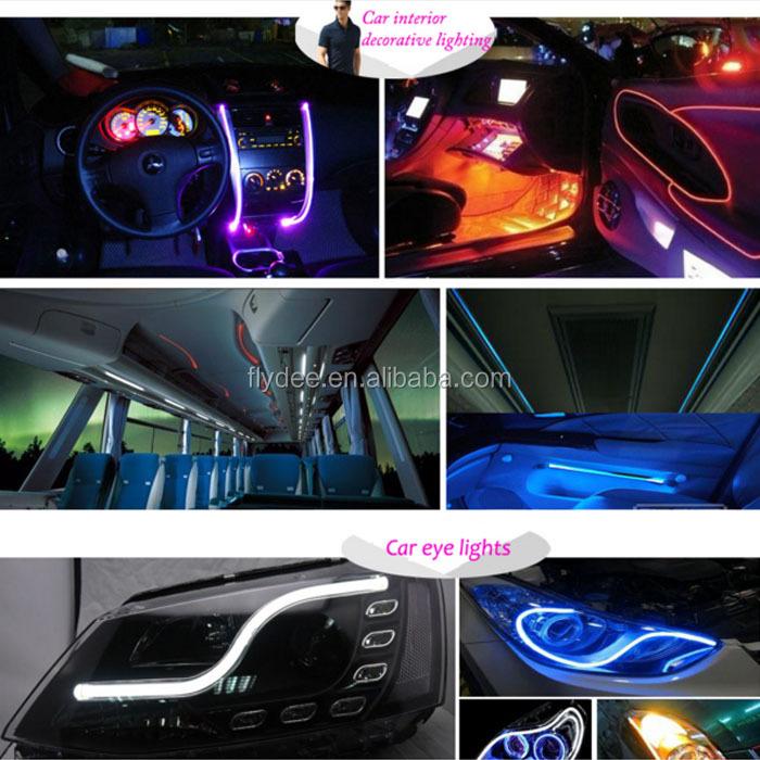 Multicolor 3mm Soft Pmma Led Grow Optic Fiber Light For Car ...