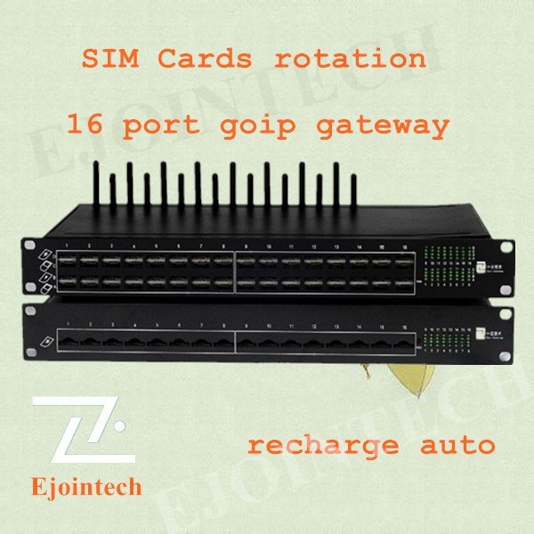 12 months warranty1!2014 Ejointech 16 ports 64 sim cards VOIP wcdma gateway,free voip call,ivr system