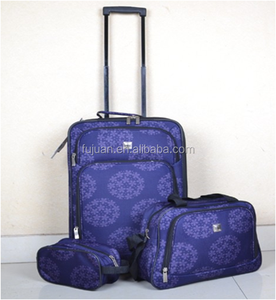Hotsale cheap 600D two wheels luggage sets 3 piece trolley