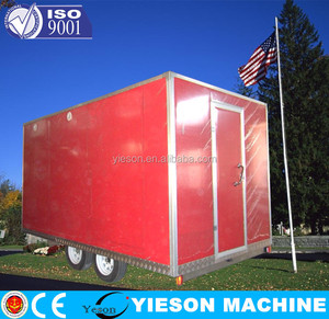 hot sale container trailer mobile hot dog cart trailer