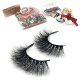New premium 3d mink lashes with private label real mink fur strip eyelashes create eyelash own brand