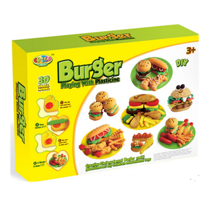 NEW DESIGNER 3D DIY PLASTICINE(BURGER) FOOD TOY