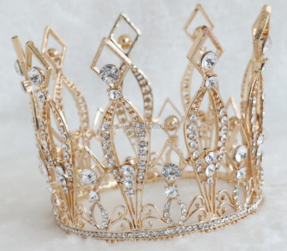 Gold queen pageant <strong>crown</strong> full around