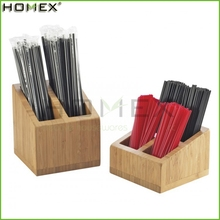 Bamboo Drinking Straw Storage Organizer Holder Homex BSCI/Factory