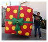 Holiday Theme Inflatables Bouncy for Chrismas Day Box Gift