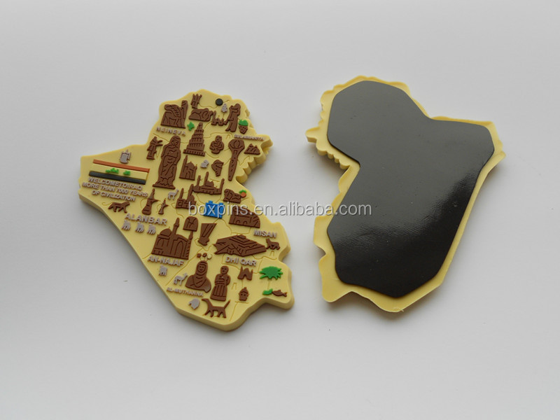 Iraq map shaped fridge magnet Iraq souvenir fridge magnet
