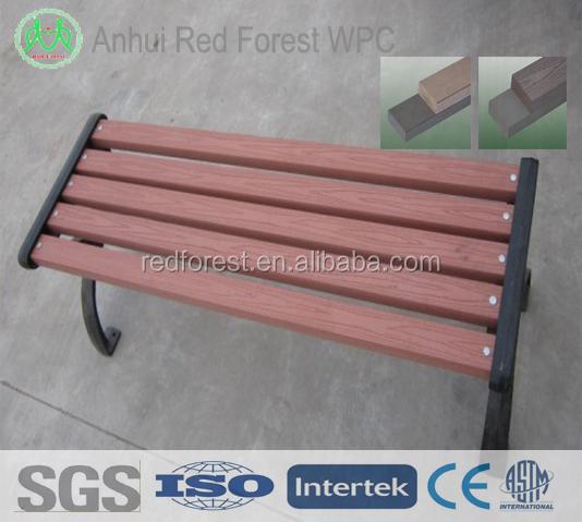 wpc bois plastique composite jardin banc pas cher/d'extérieur